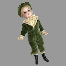 Adorable German Bisque Head Boy Doll Great Outfit