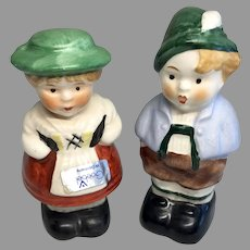 2 German Goebel Doll Figurines Miniature Pair