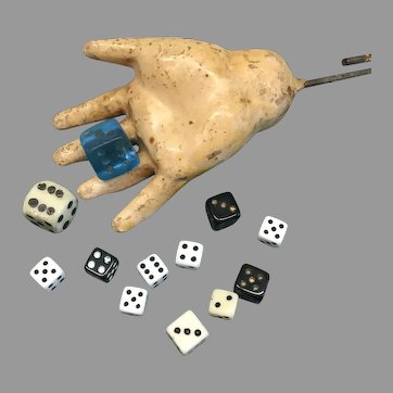 Fun Miniature Vintage Dice for Doll or Dollhouse