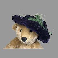 Antique Velvet Doll Bonnet Hat