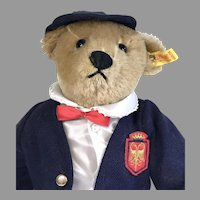 Adorable Vintage Dressed Steiff Bear 1980s Victorian Boy Margaret Strong Museum