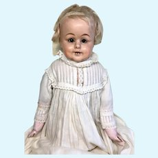 CLEARANCE SALE Papier Mache Toddler Antique Doll Wax Over Bare Feet