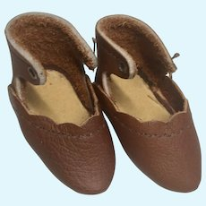 Leather Doll Shoes Pointy Toe Artist Made