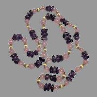 Beautiful Amethyst Stone Bead Necklace
