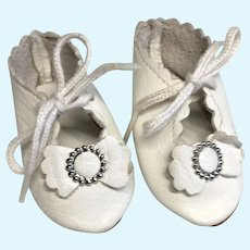 Nice Leather Doll Shoes Buckle Bow Artist Made