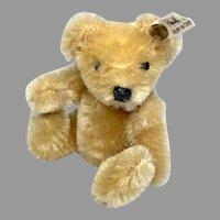 """3.5"""" Adorable Steiff Miniature Dollhouse or Doll Teddy Bear Button Tag"""