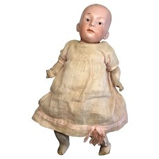 Adorable Gebruder Heubach Character Baby Doll Antique German Bisque Closed Mouth