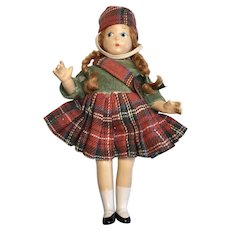 All Original Vintage Madame Alexander Tiny Betty Composition Doll Tagged Scotch