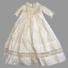 Antique Doll Dress Lacy Gown