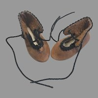 Vintage Leather Doll Shoes Artist Made