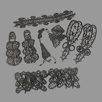 Victorian Glass Bead Trim for Antique Doll Clothes Dress Millinery Accents