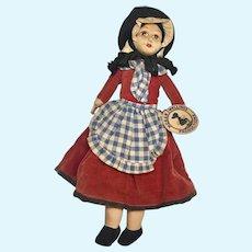 "12"" Pretty Vintage Cloth Norah Wellings Welsh Doll"