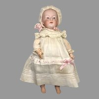 Darling Gebruder Heubach Pouty Character Boy Bisque Antique Doll Great Outfit