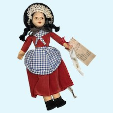 Vintage Tagged Cloth Norah Wellings Welsh Girl Doll