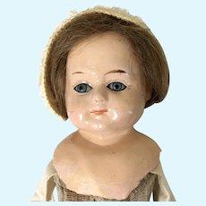 Antique German Papier Mache Doll to Dress