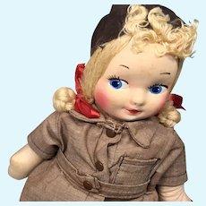 Georgene Box Vintage Cloth Brownie Girl Scout Doll All Original