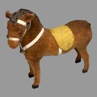 Vintage German Miniature Dollhouse Doll Horse
