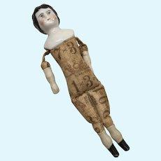 5' German China Head Dollhouse Doll Great Print Body