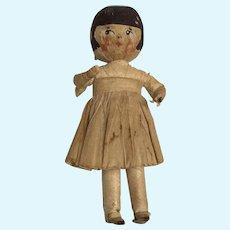 Unique Vintage Crepe Paper Flapper Style Doll