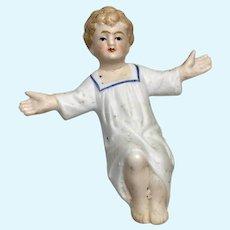 Antique German All Bisque Baby Jesus Nativity Scene Doll