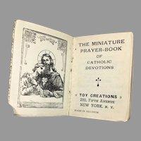 1929 Miniature Doll Size Prayer Book