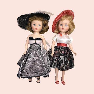 2 Pretty Vintage American Character Toni Fashion Doll