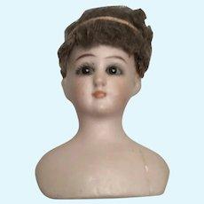 Pretty Simon Halbig 1160 Tiny Bisque Doll Head for Dollhouse Doll