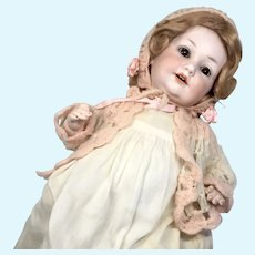 Cute German Bisque Character Baby Doll