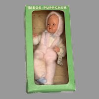 2 Boxed Caco Vintage German Dollhouse Baby Doll All Original