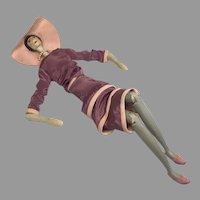 Wonderful Peg Wood Jointed Artist Fashion Doll
