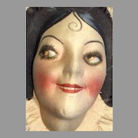 Deco Smiling Boudoir Doll Head Cloth Mask Face
