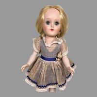 Pretty Vintage Hard Plastic Ideal Toni Doll Walker