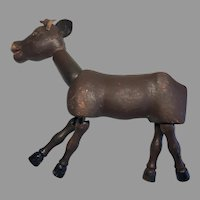 Large Wood Jointed Schoenhut Circus Donkey Animal