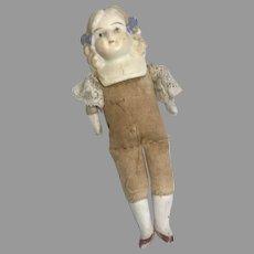 Antique Bisque Dollhouse Doll Bows in Hair