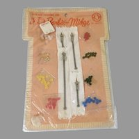 Vintage Mattel Barbie Doll Dressmakers Tiny Buttons Zippers in Original Package