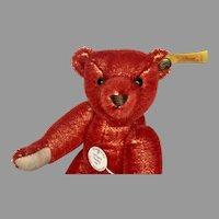 Adorable RED Steiff Historic Miniature Teddy Bear
