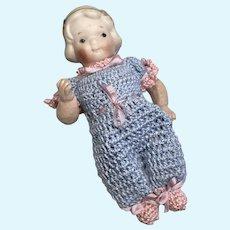 Cute Antique Nippon Bisque Head Googly Doll