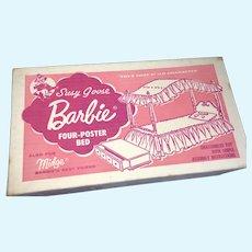Original Box Vintage Barbie Doll Suzy Goose Complete Four-Poster Bed Set