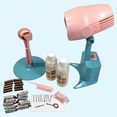 Vintage Barbie Doll Color N' Curl Hair Dryer Accessories