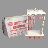 Susy Goose Vintage Skipper Skooter Doll Jeweled Wardrobe Hangars Box Barbie Family