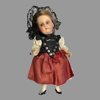 Darling German Bisque Head Doll Factory Original Clothes