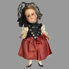 Darling German Bisque Head Doll Factory Original Clothes