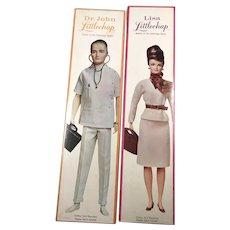 Vintage Dr. John Littlechap Doll Lisa Littlechap Remco Box