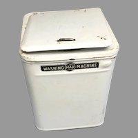 Vintage Tin Miniature Crank Washing Machine Dollhouse Doll