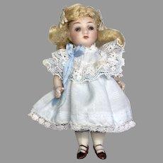 German All Bisque Sleep Eye Antique Dollhouse Size Doll