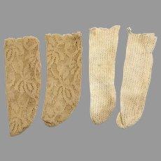 2 Pair Vintage Doll Socks