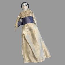 Antique German China Head Dollhouse Doll Lady