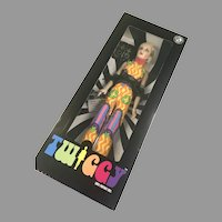 Mod NRFB Twiggy Doll MIB All Original Portrait Doll Franklin Mint