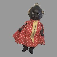 Cute All Bisque Miniature Black Baby African American Dollhouse Doll