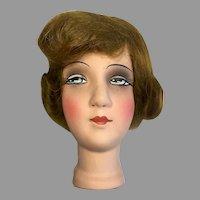 Beautiful Papier Mache Boudoir Bed Doll Head